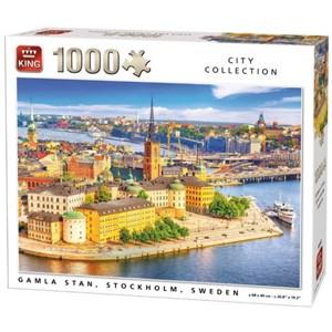 """King International (55952) - """"Gamla Stan, Stockholm, Sweden"""" - 1000 pièces"""