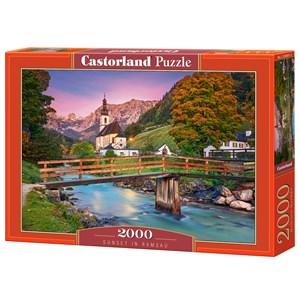 "Castorland (C-200801) - ""Sunset in Ramsau"" - 2000 pièces"