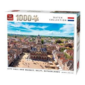 "King International (55869) - ""City Hall and Market, Delft, Netherlands"" - 1000 pièces"