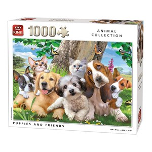 "King International (55846) - ""Puppies and Friends"" - 1000 pièces"