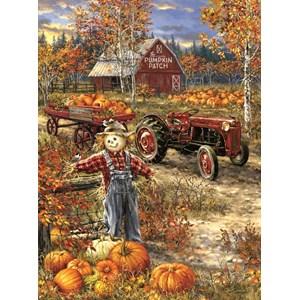 """SunsOut (57144) - Dona Gelsinger: """"The Pumpkin Patch Farm"""" - 1000 pièces"""
