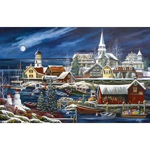 """SunsOut (51182) - Debbi Wetzel: """"Winter Harbor"""" - 1000 pièces"""