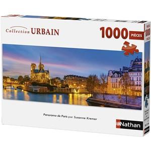 """Nathan (87577) - """"Paris, France"""" - 1000 pièces"""