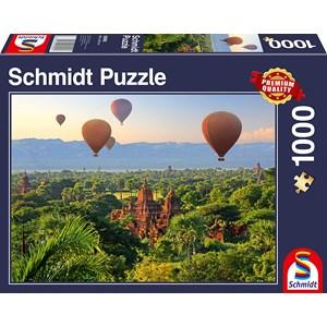 "Schmidt Spiele (58956) - ""Hot Air Balloons Mandalay Myanmar"" - 1000 pièces"