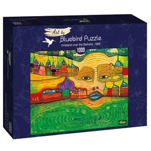 """Bluebird Puzzle (60063) - Friedensreich Hundertwasser: """"Irinaland over the Balkans, 1969"""" - 1000 pièces"""