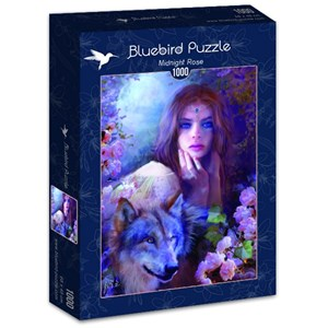"Bluebird Puzzle (70172) - Bente Schlick: ""Midnight Rose"" - 1000 pièces"
