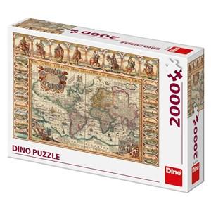 """Dino (56115) - """"Vieille Carte du Monde"""" - 2000 pièces"""