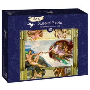 "Bluebird Puzzle (60053) - Michelangelo: ""The Creation of Adam, 1511"" - 1000 pièces"