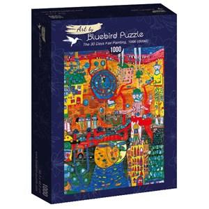 "Bluebird Puzzle (60064) - Friedensreich Hundertwasser: ""The 30 Days Fax Painting, 1996"" - 1000 pièces"