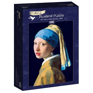 """Bluebird Puzzle (60065) - Johannes Vermeer: """"Girl with a Pearl Earring, 1665"""" - 1000 pièces"""