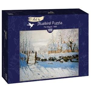 """Bluebird Puzzle (60041) - Claude Monet: """"The Magpie, 1869"""" - 1000 pièces"""