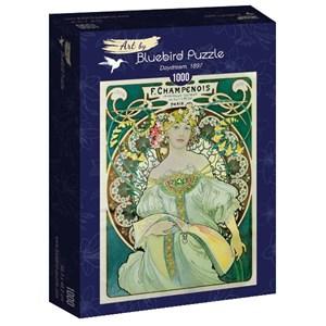 "Bluebird Puzzle (60033) - Alphonse Mucha: ""Daydream, 1897"" - 1000 pièces"