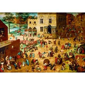"Bluebird Puzzle (60034) - Pieter Brueghel the Elder: ""Children's Games, 1560"" - 1000 pièces"