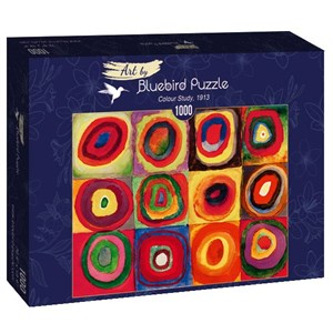 "Bluebird Puzzle (60035) - Vassily Kandinsky: ""Colour Study, 1913"" - 1000 pièces"