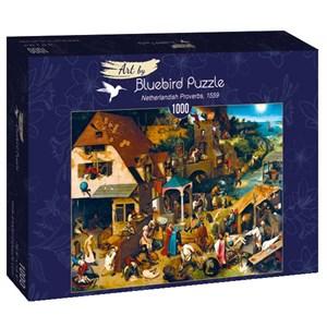 "Bluebird Puzzle (60028) - Pieter Brueghel the Elder: ""Netherlandish Proverbs, 1559"" - 1000 pièces"