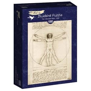 """Bluebird Puzzle (60009) - Leonardo Da Vinci: """"The Vitruvian Man, 1490"""" - 1000 pièces"""