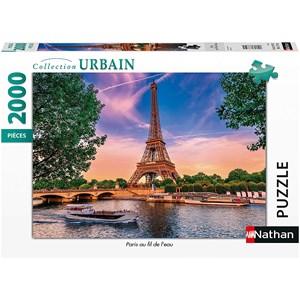 """Nathan (87884) - """"Paris, Fil de l'eau"""" - 2000 pièces"""