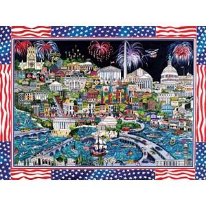 "SunsOut (74058) - Sharie Hatchett Bohlmann: ""Fireworks over Washington DC"" - 1000 pièces"