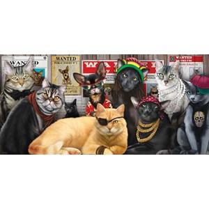"SunsOut (49012) - Lucia Guarnatta: ""Cat Lineup"" - 1000 pièces"