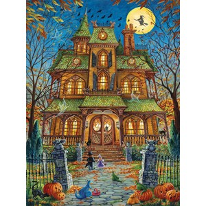 """SunsOut (15515) - Randal Spangler: """"The Trick or Treat House"""" - 1000 pièces"""