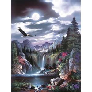 """SunsOut (18048) - James Lee: """"Moonlit Eagle"""" - 1000 pièces"""