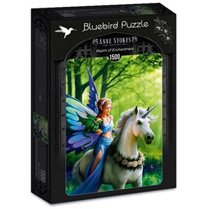 """Bluebird Puzzle (70440) - Anne Stokes: """"Realm of Enchantment"""" - 1500 pièces"""