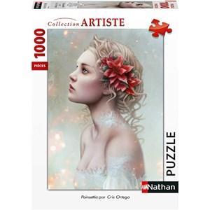 "Nathan (87628) - Cris Ortega: ""Poinsettia"" - 1000 pièces"