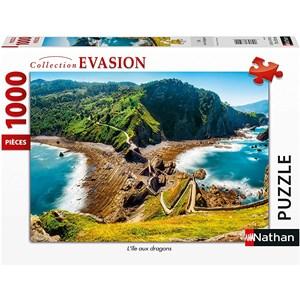 "Nathan (87631) - ""Dragons Island"" - 1000 pièces"