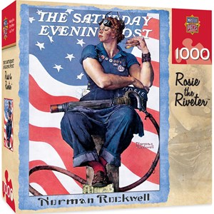 """MasterPieces (71805) - Norman Rockwell: """"Rosie the Riveter"""" - 1000 pièces"""