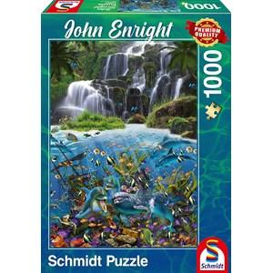 """Schmidt Spiele (59684) - John Enright: """"Waterfall"""" - 1000 pièces"""