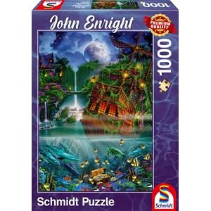"Schmidt Spiele (59685) - John Enright: ""Sunken treasure"" - 1000 pièces"