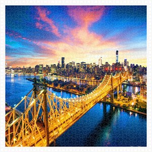 "Pintoo (h1786) - ""Manhattan with Queensboro Bridge, New York"" - 1600 pièces"