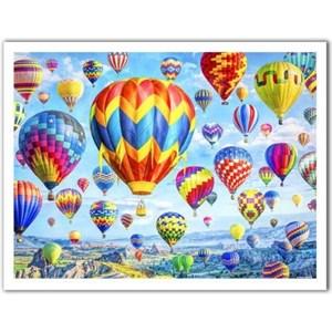 """Pintoo (h2085) - Lars Stewart: """"Hot Air Balloon Festival"""" - 1200 pièces"""