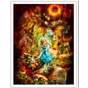 """Pintoo (h2111) - Shu Mizoguchi: """"Adventurous Alice"""" - 1200 pièces"""