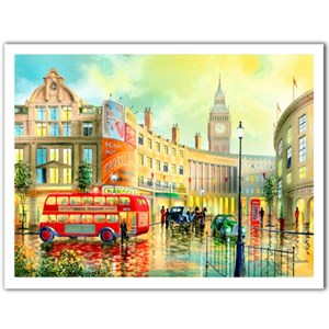 """Pintoo (h1996) - Ken Shotwell: """"Morning in London"""" - 1200 pièces"""