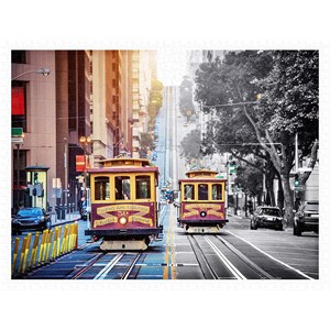 "Pintoo (h2044) - ""Cable Cars on California Street, San Francisco"" - 1200 pièces"
