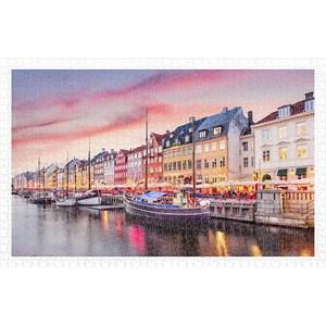 """Pintoo (h2010) - """"Nyhavn Canal in Copenhagen, Denmark"""" - 1000 pièces"""