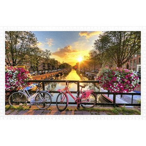 """Pintoo (h1770) - """"Beautiful Sunrise Over Amsterdam"""" - 1000 pièces"""