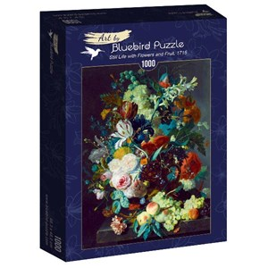 """Bluebird Puzzle (60072) - Jan van Huysum: """"Still Life with Flowers and Fruit, 1715"""" - 1000 pièces"""