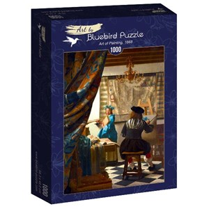 "Bluebird Puzzle (60083) - Johannes Vermeer: ""Art of Painting, 1668"" - 1000 pièces"