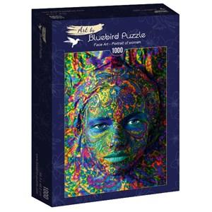 """Bluebird Puzzle (60010) - """"Face Art, Portrait of woman"""" - 1000 pièces"""