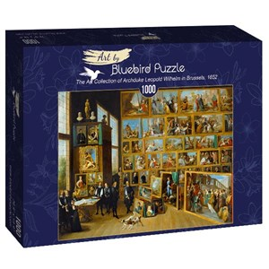 """Bluebird Puzzle (60054) - David Teniers the Younger: """"The Art Collection of Archduke Leopold Wilhelm in Brussels, 1652"""" - 1000 pièces"""