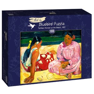 "Bluebird Puzzle (60076) - Paul Gauguin: ""Tahitian Women on the Beach, 1891"" - 1000 pièces"