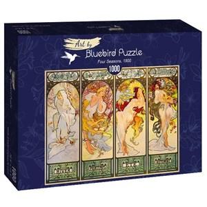 "Bluebird Puzzle (60056) - Alphonse Mucha: ""Four Seasons, 1900"" - 1000 pièces"