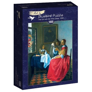"""Bluebird Puzzle (60067) - Johannes Vermeer: """"The Girl with the Wine Glass, 1659"""" - 1000 pièces"""