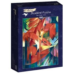 """Bluebird Puzzle (60068) - Franz Marc: """"The Foxes, 1913"""" - 1000 pièces"""