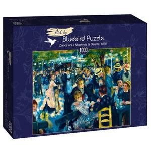 """Bluebird Puzzle (60049) - Pierre-Auguste Renoir: """"Dance at Le Moulin de la Galette, 1876"""" - 1000 pièces"""