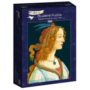 """Bluebird Puzzle (60023) - Sandro Botticelli: """"Idealized Portrait of a Lady, 1480"""" - 1000 pièces"""