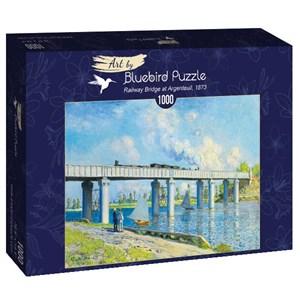 """Bluebird Puzzle (60038) - Claude Monet: """"Railway Bridge at Argenteuil, 1873"""" - 1000 pièces"""