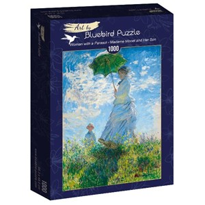 """Bluebird Puzzle (60039) - Claude Monet: """"Woman with a Parasol, Madame Monet and Her Son"""" - 1000 pièces"""